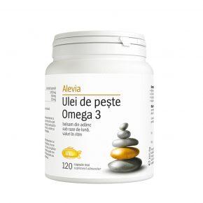 Ulei de peste Omega 3, Alevia, Normalizeaza colesterolul, 120 comprimate