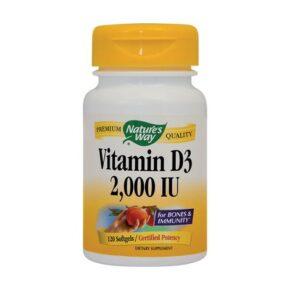VitaminD32000Uipentru Adulti120 Capsule