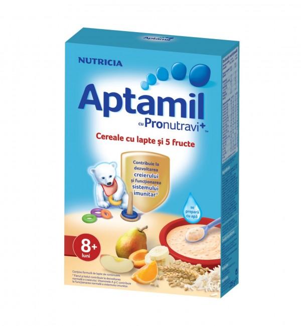 Aptamil cereale cu 5 fructe 225g 1