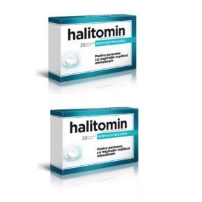 Pachet Halitomin, supliment alimentar pentru respiratie neplacut mirositoare, 2x20 comprimate