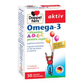 Doppelherz Aktiv Omega-3 +Vit. A+D+E+C, 30 capsule