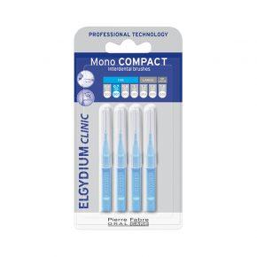 Periuta Interdentara Mono Compact 0.8 mm, Elgydium Clinic, pentru Indepartarea Eficienta a Placii Dentare si a Resturilor Alimentare, 4 buc