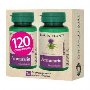 Pachet Armurariu, Protectie Hepatica, Supliment Alimentar recomandat pentru Regenerarea si Detoxifierea FIcatului, 2x60 comprimate