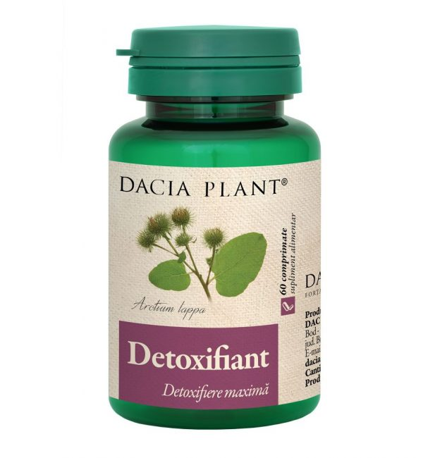 Detoxifiant Detoxifiere Maxima, Dacia Plant, Supliment Alimentar pentru Detoxifierea Organismului, 60 comprimate