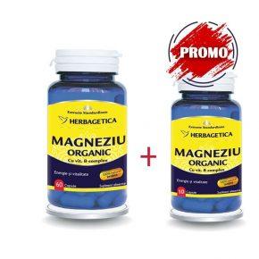 Set Magneziu Organic 60+30 capsule, Herbagetica
