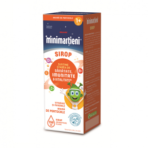 Sirop cu Aroma de Portocale, Minimartieni, pentru Sustinerea Starii de Sanatate, Imunitate si Vitalitate, 150 ml