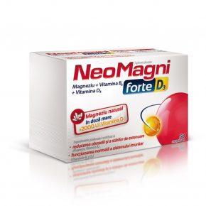 Supliment alimentar NeoMagni Forte D3, 50 comprimate
