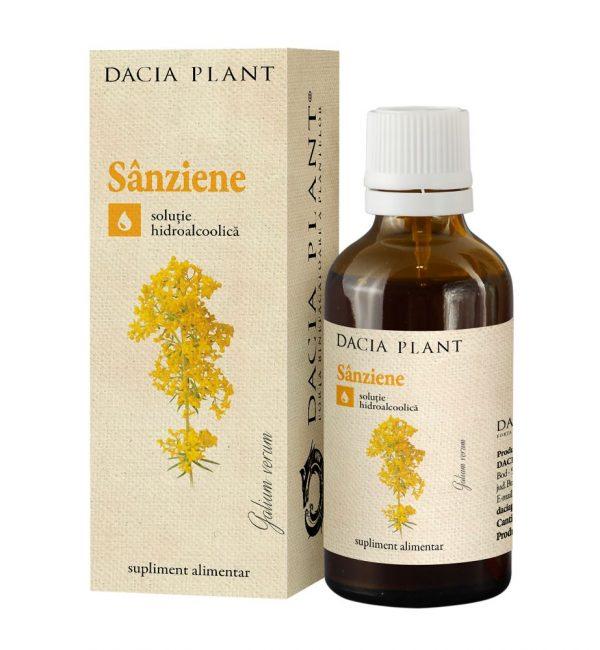 Tinctura Sanziene, Dacia Plant, Supliment Alimentar recomandat pentru Functionarea Normala a Glandei Tiroide si pentru Sanatatea Aparatului Urinar, 50 ml