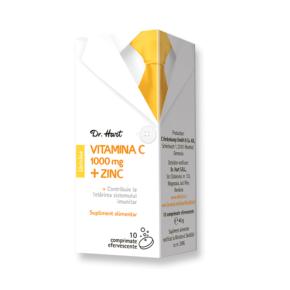 Vitamina C 1000 mg + Zinc, Dr. Hart, 10 cpr eff