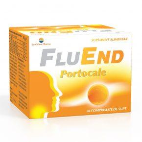 FluEnd Portocale Sun Wave Pharma, 20 comprimate