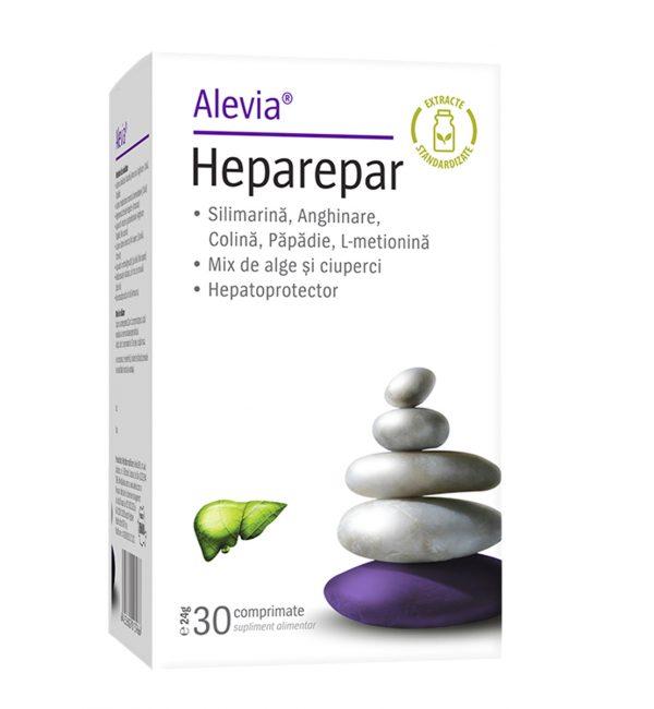 Heparepar, Alevia, Supliment alimentar care protejeaza ficatul, 30 compriumate