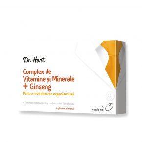 Vitamine Minerale Ginseng Dr. Hart Revitalizare organism 15 capsule