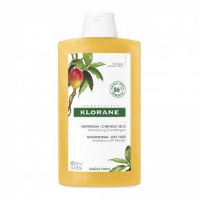 Sampon cu unt de mango pentru par uscat, Klorane, 400 ml